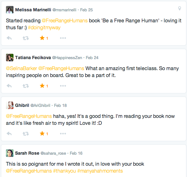 be a free range human reader reviews b